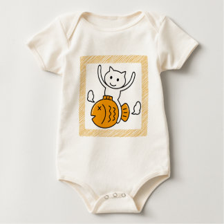 The cat which wants baby bodysuit