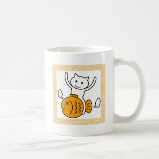 The cat which wants coffee mug
