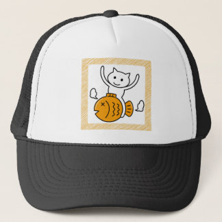 The cat which wants trucker hat