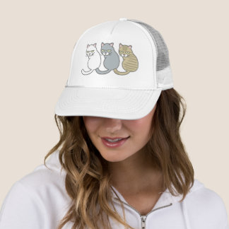 The cat which you look back trucker hat