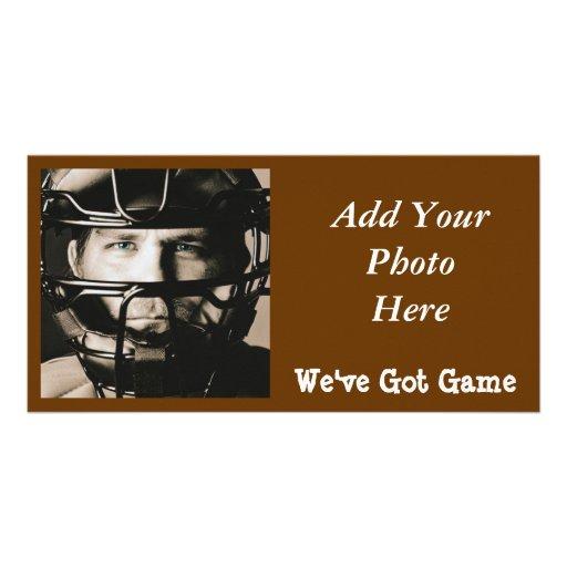 The Catcher Custom Photo Card