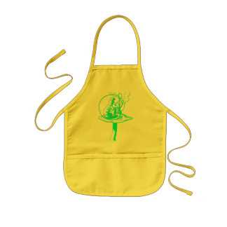 The Caterpillar in Blue Kids Apron