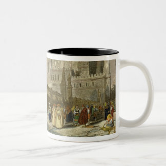 The Cathedral at Palermo, Sicily, engraved by John Two-Tone Coffee Mug