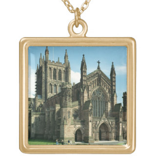 The Cathedral Church of the Blessed Virgin Mary an Gold Plated Necklace