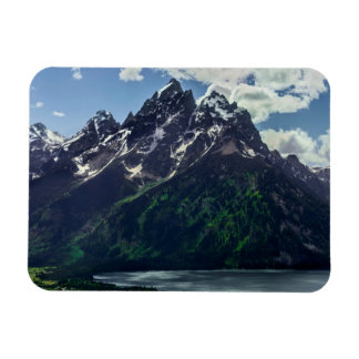 The Cathedral Group In Grand Teton National Rectangular Photo Magnet