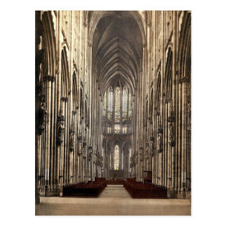 The cathedral interior, Cologne, the Rhine, German Postcard