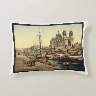 The cathedral, Marseilles, France Decorative Pillow