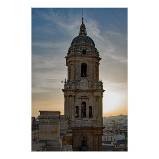 The Cathedral of Malaga Poster