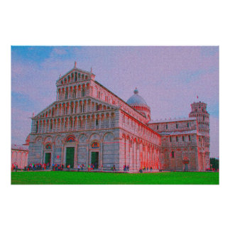 The Cathedral of Pisa Poster