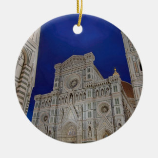 The Cathedral of Santa Maria del Fiore in italy Ceramic Ornament