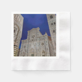 The Cathedral of Santa Maria del Fiore in italy Disposable Napkin