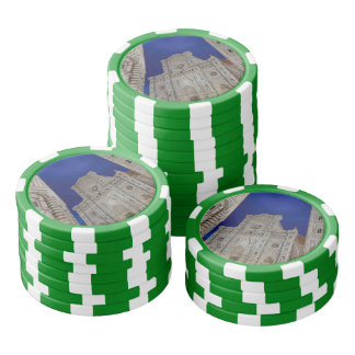 The Cathedral of Santa Maria del Fiore in italy Poker Chips