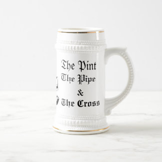 The Catholic Dormitory Stein Mug (White/Gold)