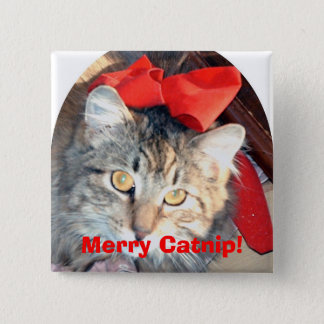 The Catnip Papers:  Merry Catnip! -square button