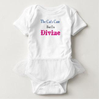 """The Cat's Cute"" Cute Slogan Baby Tutu Baby Bodysuit"