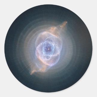 The Cat's Eye Nebula Classic Round Sticker