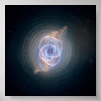 The Cat's Eye Nebula- Dying Star Creates Fant Poster