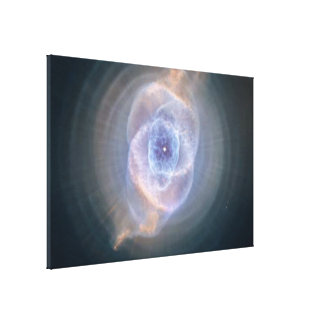 The Cat's Eye Nebula's Intricate Layers Stretched Canvas Print