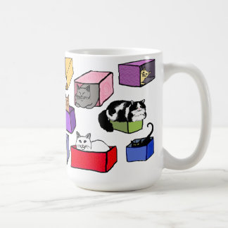 The Cats in Colorful Boxes Mug