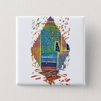 The Cats of Impressionism 2 Inch Square Button
