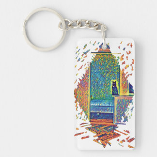The Cats of Impressionism Keychain