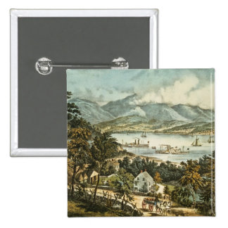 The Catskill Mountains 2 Inch Square Button