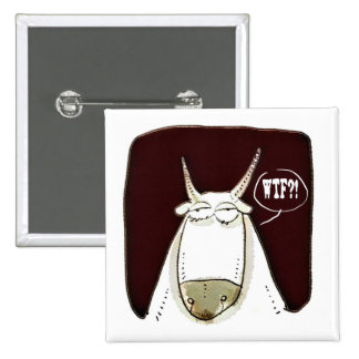 the cattle looking out meaningless funny cartoon 2 inch square button