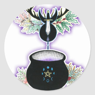 The Cauldron Born Classic Round Sticker
