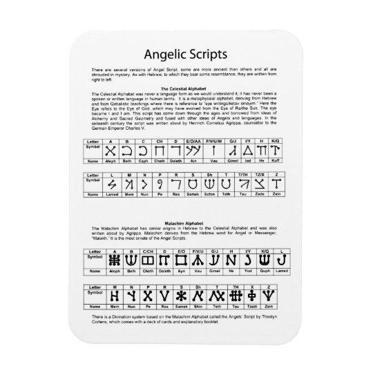 The Celestial Alphabet Angelic Script Chart Magnet