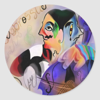 The Cellist Classic Round Sticker