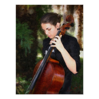 """""""The Cellist"""" Poster"""