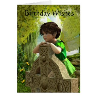 The Celtic Fairy Birthday Card