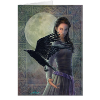 The Celtic Raven. Card
