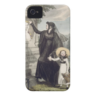 The Cemetery of Pere Lachaise, printed by Charles iPhone 4 Case-Mate Cases