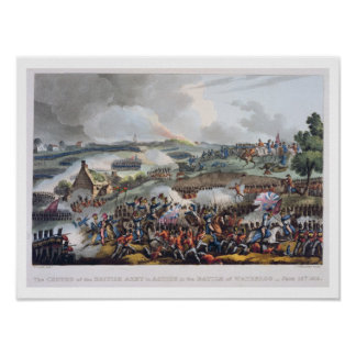 The Centre of the British Army in Action at the Ba Poster