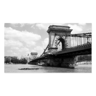 The Chain Bridge over the Danube River in Budapest Business Card