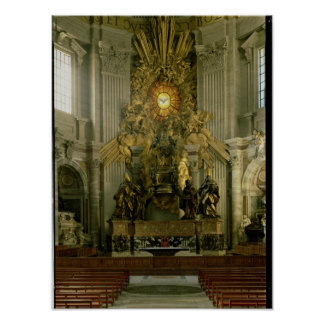 The chair of St. Peter, 1665 Poster