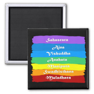 The Chakra Rainbow Square Magnet