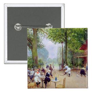 The Chalet du Cycle in the Bois de Boulogne 2 Inch Square Button