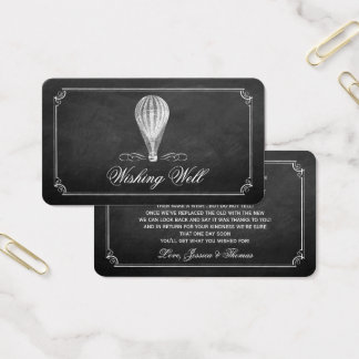 The Chalkboard Hot Air Balloon Wedding Collection Business Card