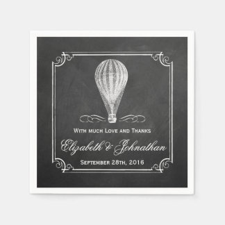 The Chalkboard Hot Air Balloon Wedding Collection Napkin