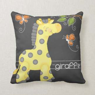 The Chalkboard Jungle - Giraffe Pillow