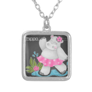 The Chalkboard Jungle - Hippo Necklace