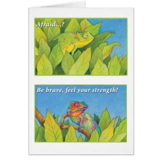 The Chameleon - 2 Timothy 1:7 Card
