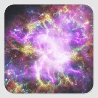 The Chandra X-ray in the Crab Nebula Square Sticker