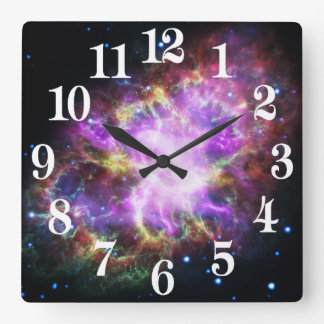 The Chandra X-ray in the Crab Nebula Square Wall Clock