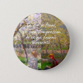 The change of the seasons renew my soul 2 inch round button
