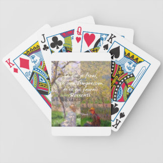 The change of the seasons renew my soul bicycle playing cards