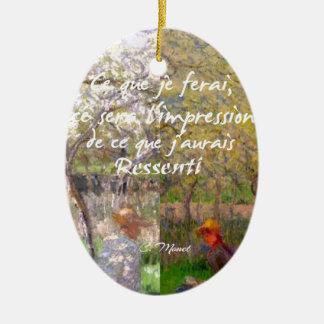 The change of the seasons renew my soul ceramic ornament