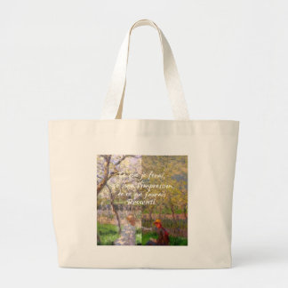 The change of the seasons renew my soul large tote bag